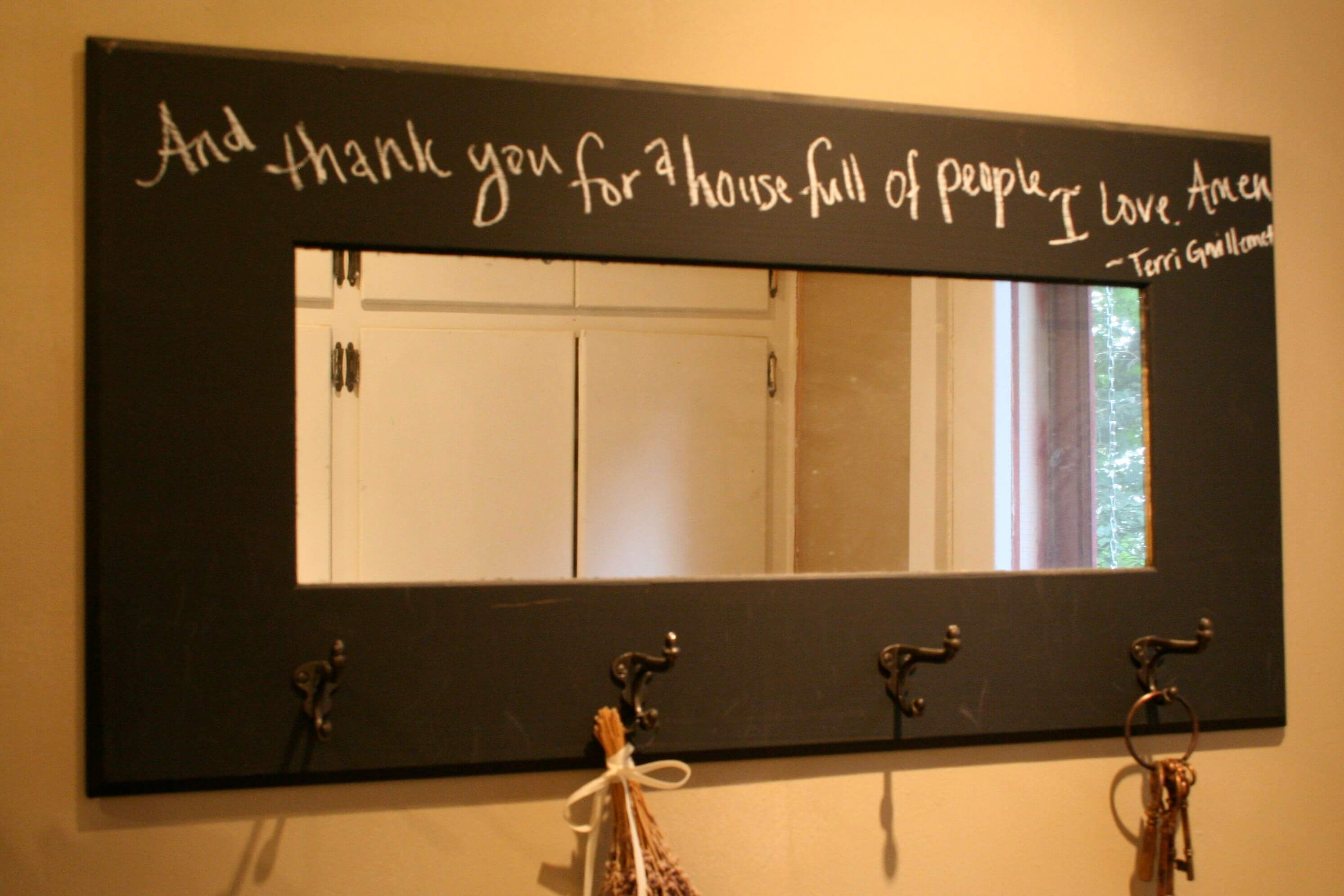 diy-chalkboard-with-mirror-and-coat-hook-for-mudroom-decor-ideas-also-interior-paint-color-with-chalkboard-wall-ideas-and-closet-plus-window-treatment-with-interior-design-and-framed-chalk-board